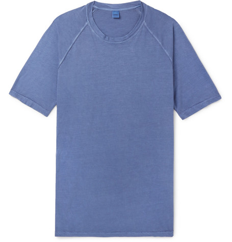 Aspesi Slim-fit Washed Cotton-jersey T-shirt - Pink uvXOD7B9t
