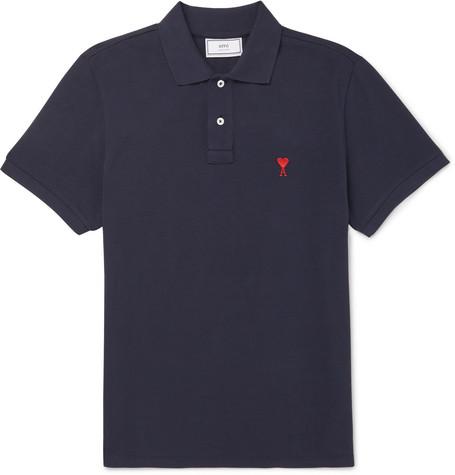 Embroidered Cotton-piqué Polo Shirt