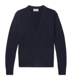 AMI Merino Wool and Cashmere-Blend Cardigan