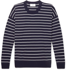 AMI Oversized Striped Cotton Sweater
