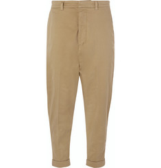 AMI Tapered Stretch-Cotton Twill Trousers