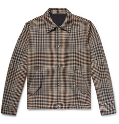 AMI Houndstooth Wool Shirt Jacket