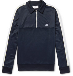 AMI Jersey Half-Zip Sweater