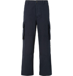 AMI Wide-Leg Cotton Cargo Trousers