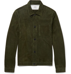 AMI - Suede Shirt Jacket