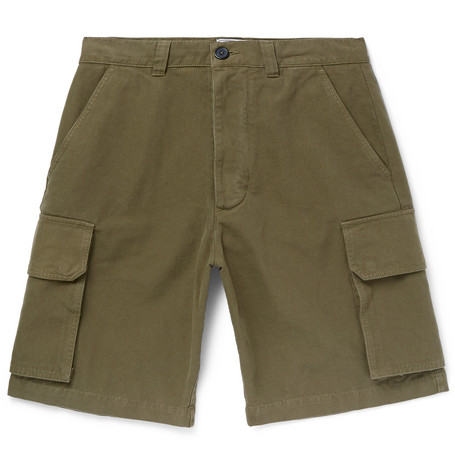 Cotton Canvas Cargo Shorts by Ami