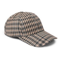 AMI Prince of Wales Checked Virgin Wool Baseball Cap