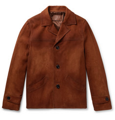 Prada Burnished-Suede Jacket