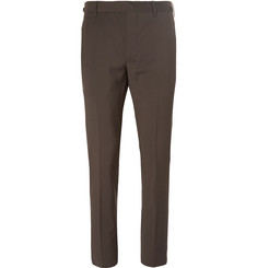 Prada Tela Slim-Fit Wool and Mohair-Blend Trousers