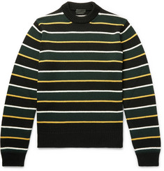 Prada Striped Virgin Wool Sweater