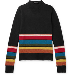 Prada Striped Shetland Virgin Wool Sweater