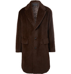 Prada Oversized Textured Alpaca and Cotton-Blend Coat