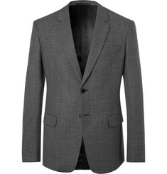 Prada Grey Fantasia Slim-Fit Mélange Wool Suit Jacket