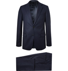 Prada Navy Slim-Fit Super 120s Wool-Flannel Suit
