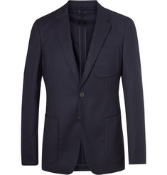 Prada Navy Slim-Fit Super 120s Wool-Flannel Suit Jacket