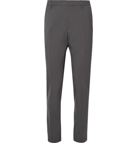 Slim Fit Stretch Virgin Wool Trousers by Prada