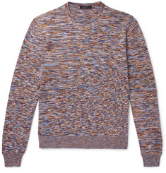 Prada Slim-Fit Space-Dyed Mélange Virgin Wool Sweater