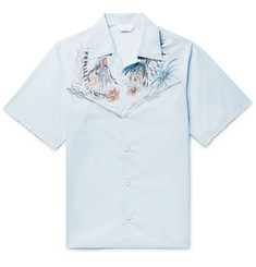 Prada - Camp-Collar Printed Cotton-Poplin Shirt