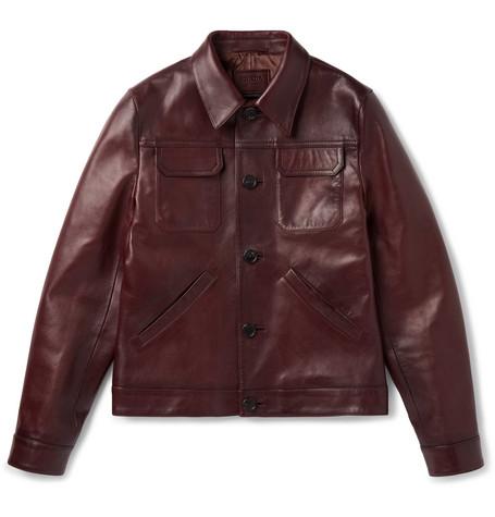Polished Leather Jacket by Prada