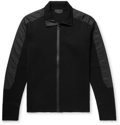 Prada Shell-Trimmed Virgin Wool Zip-Up Cardigan