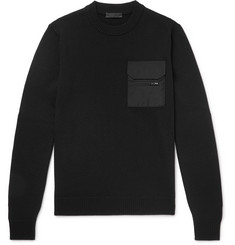 Prada Shell-Trimmed Virgin Wool Sweater