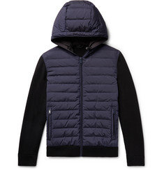 Prada - Quilted Shell and Virgin Wool Hooded Down Jacket