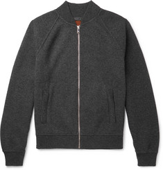 Prada Mélange Virgin Wool and Cashmere-Blend Bomber Jacket
