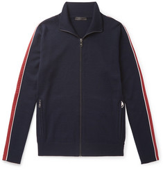 Prada Slim-Fit Shell-Trimmed Virgin Wool Track Jacket