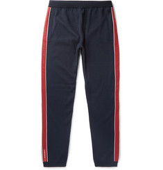 Prada Slim-Fit Shell-Trimmed Virgin Wool Sweatpants