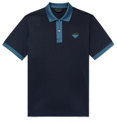 Prada Contrast-Trimmed Cotton-Piqué Polo Shirt