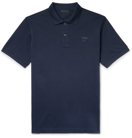 Cotton Piqué Polo Shirt by Prada
