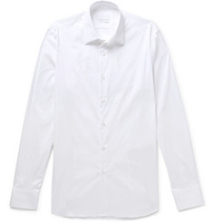 Prada White Slim-Fit Stretch Cotton-Blend Shirt