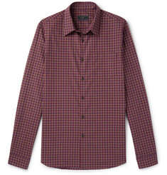 Prada Slim-Fit Checked Cotton-Poplin Shirt