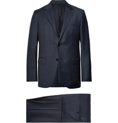 Ermenegildo Zegna Navy Milano Easy Checked Wool Suit
