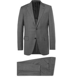 Ermenegildo Zegna Grey Milano Easy Slim-Fit Checked Wool Suit