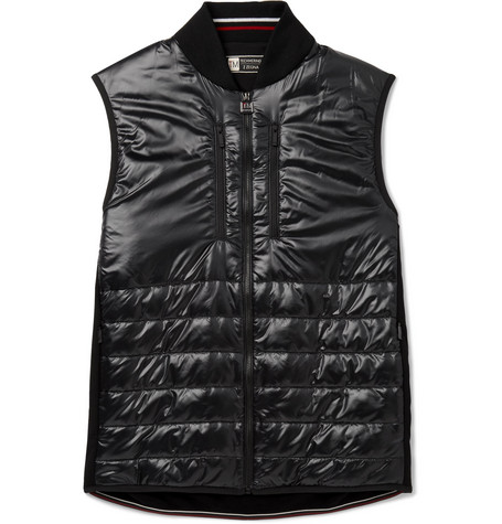 Z Zegna Slim-fit Quilted Nylon And Techmerino Wool Gilet - Black