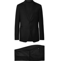 Z Zegna Black Slim-Fit Wash & Go TECHMERINO Wool-Flannel Suit