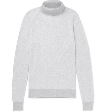 Ermenegildo Zegna Mens Cashmere Turtleneck Sweater In Gray Modesens