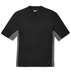Z Zegna - Mesh-Panelled TECHMERINO Wool T-Shirt