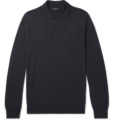 Ermenegildo Zegna Cotton and Cashmere-Blend Polo Shirt