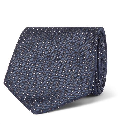7cm Embroidered Silk Tie