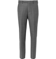 Ermenegildo Zegna Slim-Fit Checked Wool Trousers