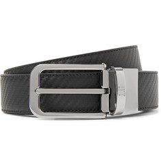 Dunhill - 3cm Black and Dark-Brown Reversible Chassis Leather Belt
