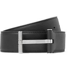 TOM FORD 4cm Black Full-Grain Leather Belt