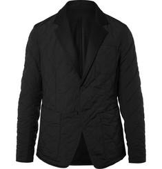 보테가 베네타 Bottega Veneta Reversible Wool-Felt and Quilted Shell Blazer,Black