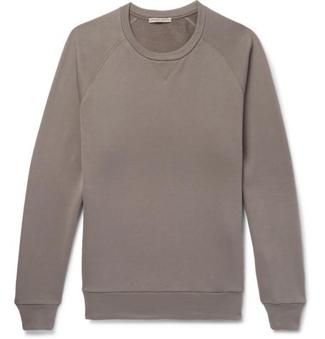 Fleece Back Cotton Jersey Sweatshirt by Bottega Veneta