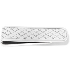 Bottega Veneta Intrecciato Silver and Gold-Tone Money Clip