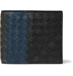 Bottega Veneta - Colour-Block Intrecciato Full-Grain Leather Billfold Wallet