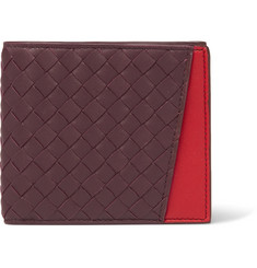 Bottega Veneta Two-Tone Intrecciato Leather Billfold Wallet
