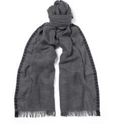 Bottega Veneta Fringed Cashmere and Silk-Blend Scarf